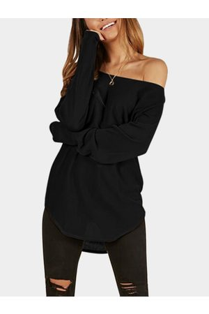 YOINS One Shoulder Long Sleeves Knitted Casual Top