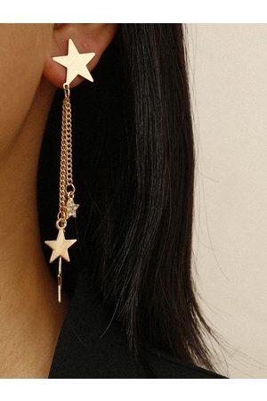 YOINS 1pair Star & Chain Drop Earrings