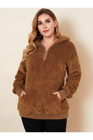 YOINS Plus Size Pullover Hooded Design Pocket Design Long Sleeves Sweatshirt