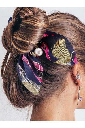 YOINS Bowknot Pearl Pendant Elastic Hair Ring