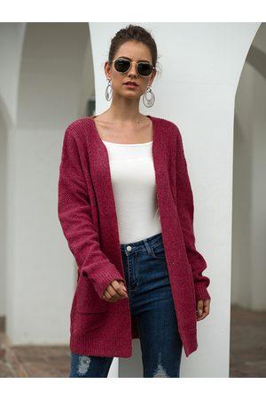 YOINS Women Long Sleeve - Side Pockets Long Sleeves Open Front Cardigan