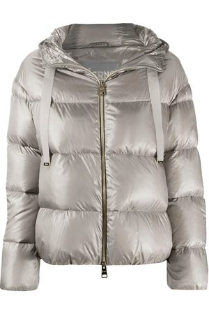 HERNO Metallic quilted puffer jacket