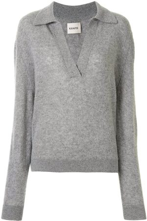 Khaite Fine-knit v-neck jumper