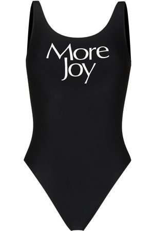 More Joy Logo print swimsuit