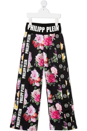 Philipp Plein Floral-print track pants