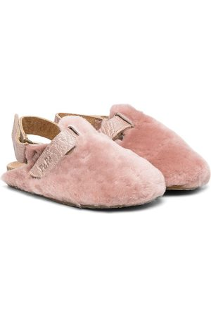 PèPè Open heel shearling slippers