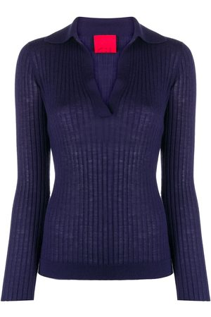 Cashmere In Love Ribbed-knit polo jumper