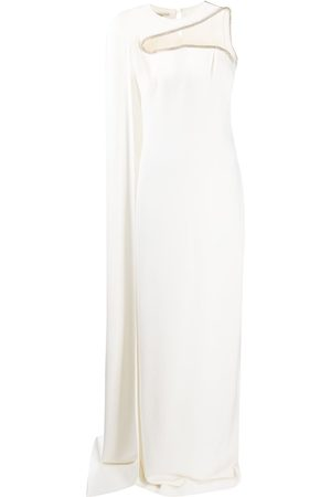 Stella McCartney Crystal embellished cape detail gown