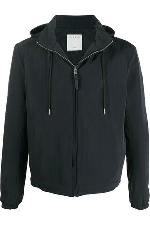 Sandro Long-sleeved drawstring hood jacket