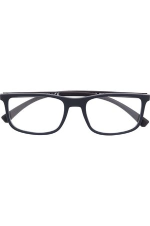 Emporio Armani Rectangle-frame clear glasses