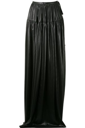 ANN DEMEULEMEESTER Gathered maxi skirt