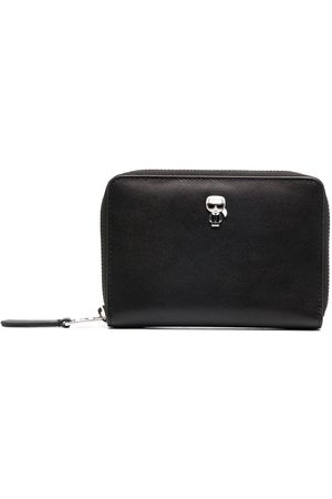 Karl Lagerfeld Zip-up leather wallet