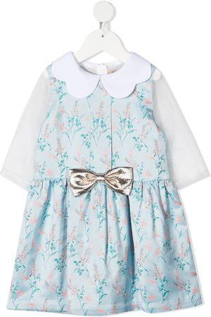 HUCKLEBONES LONDON Floral-print bow-detail dress
