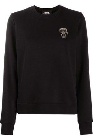 Karl Lagerfeld Logo-embroidered jumper