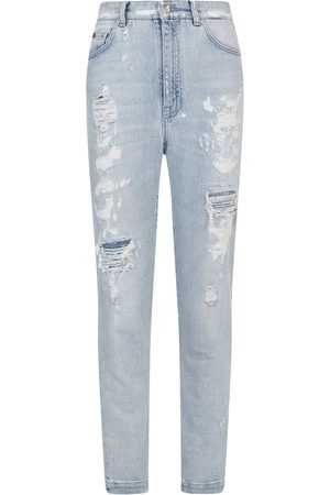 Dolce & Gabbana Audrey jeans in light denim with rips