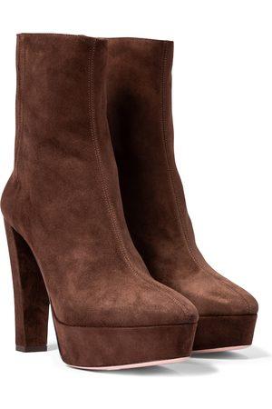 Aquazzura Saint Honore 120 suede platform ankle boots