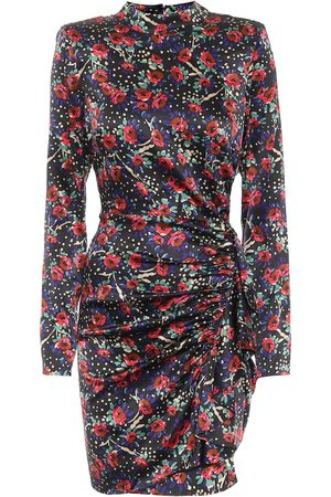 VERONICA BEARD Louella floral stretch silk-satin minidress