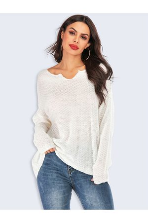 YOINS Women Long Sleeve - Pure Color Long Sleeves Knit Top
