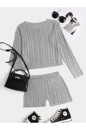 YOINS Women Long Sleeve - Casual Knit Crew Neck Long Sleeves Two Piece Outfit