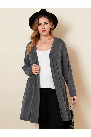 YOINS Women Long Sleeve - Plus Size Pocket Design Long Sleeves Cardigan