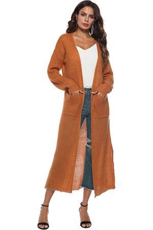 YOINS Side Pockets Long Sleeves Cardigan