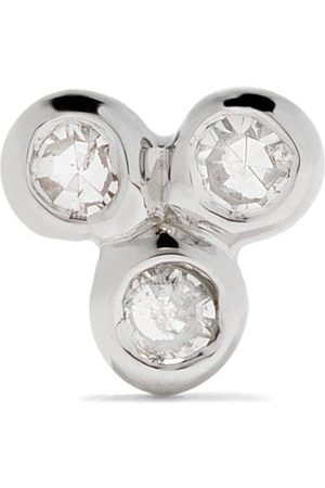 Maria Black 14kt white gold Triad diamond stud