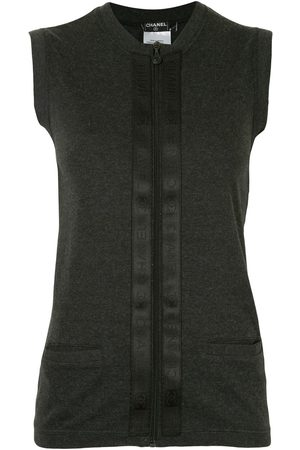 Chanel Pre-Owned 2002 zip-up sleeveless knitted cardigan