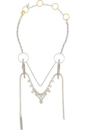 Marine Serre Crocodile-clip layered necklace