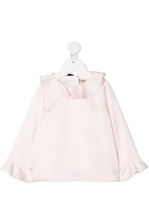 HUCKLEBONES LONDON Ruffle-detail long-sleeve blouse