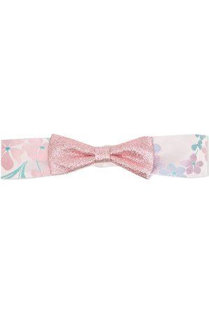 HUCKLEBONES LONDON Floral-print bow-detail headband