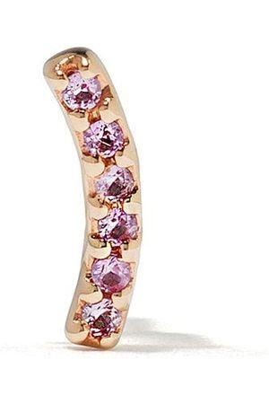 Maria Black 14kt yellow Crescent pink sapphire stud