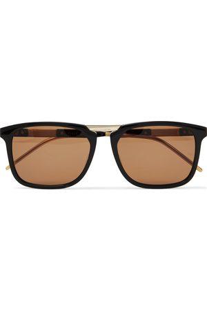 Gucci Square-Frame Acetate and Gold-Tone Sunglasses