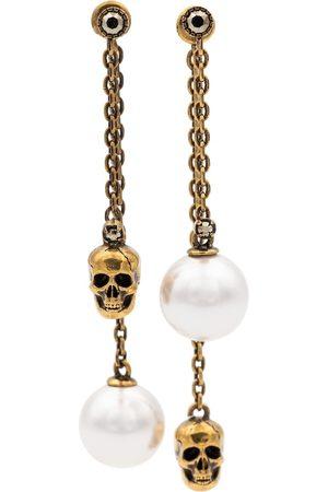Alexander McQueen Faux pearl and skull earrings