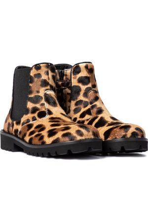 Dolce & Gabbana Leopard-print calf-hair ankle boots