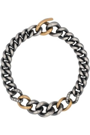 Hum 18kt yellow gold sterling chain bracelet