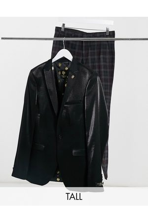 Twisted Tailor Men Blazers - TALL suit jacket with velvet collar in high shine