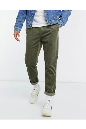 ASOS Cord slim trousers in khaki