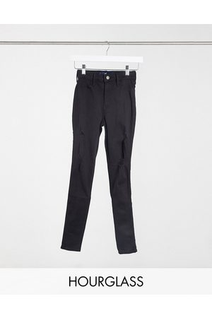 Hollister Hourglass skinny jeans with rips in