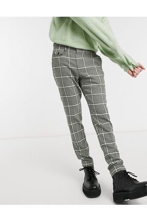 ASOS Super skinny smart trousers in and black bold check