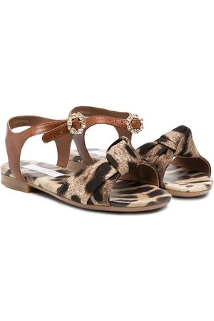 Dolce & Gabbana Animal print open-toe sandals