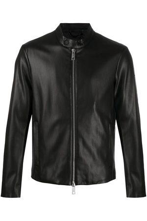 Armani Faux leather bomber jacket