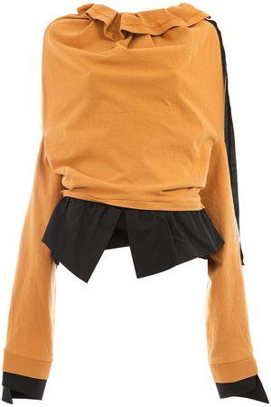 AGANOVICH Ruffle neck sweatshirt