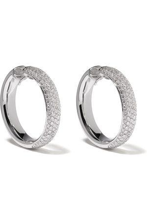LEO PIZZO 18kt white gold hoop diamond earrings