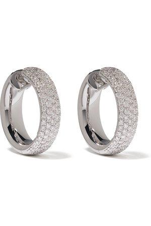 LEO PIZZO 18kt white gold diamond hoop earrings