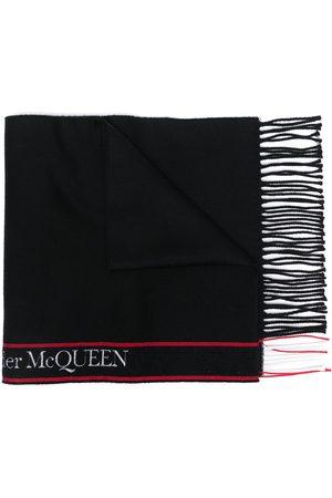 Alexander McQueen Logo-stripe scarf