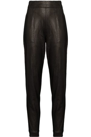 Spanx Ike faux-leather track pants