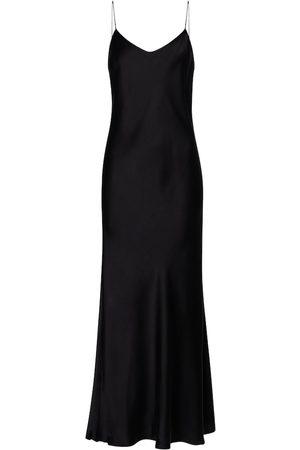 ASCENO Lyon silk satin slip dress