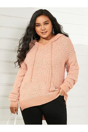YOINS Plus Size Hooded Design Long Sleeves Sweater