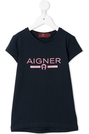 Aigner Short-sleeved glitter logo T-shirt