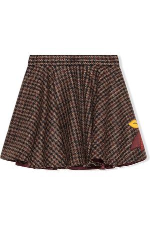 Dolce & Gabbana Embroidered tweed skater skirt